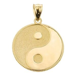 Other - SOLID GOLD Yin Yang Gold Charm Pendant Brand New
